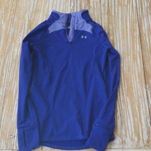 Under Armour coldgear purple shirt XS